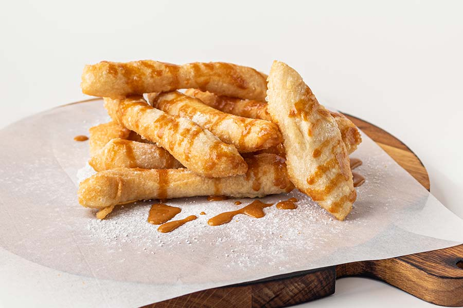 Анжолетти с соленой карамелью